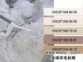 色效果、新天然纤维组合(丝绸、亚麻、纸纤维等)的羊毛面料
